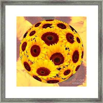 Sunflower Sunshine Framed Print