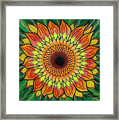 Sunflower Framed Print by Teal Swan