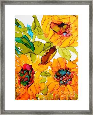 Sunflower Trio Framed Print