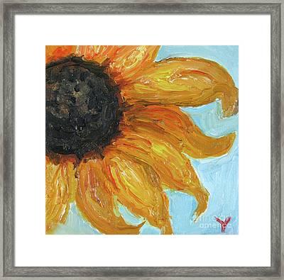Sunflower Framed Print by Venus