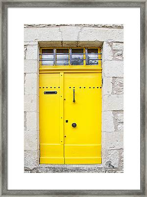 Sunflower Yellow Door Framed Print