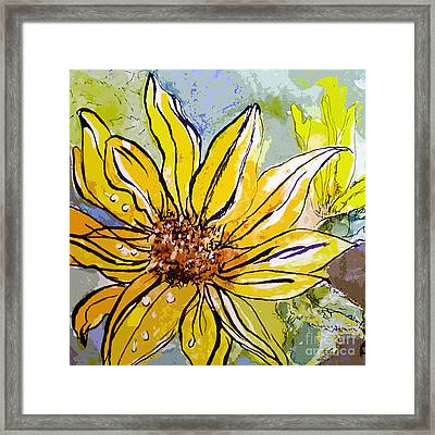 Sunflower Yellow Ribbon Framed Print