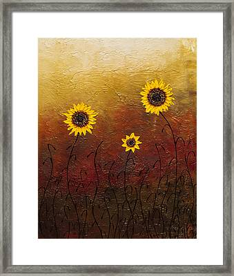 Sunflowers 2 Framed Print by Carmen Guedez