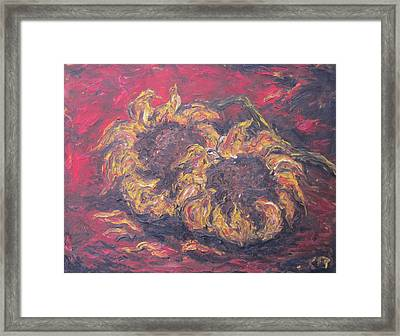 Sunflowers 2 - Ode To Van Gogh Framed Print