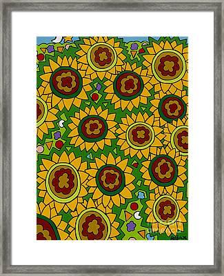Sunflowers 2 Framed Print by Rojax Art