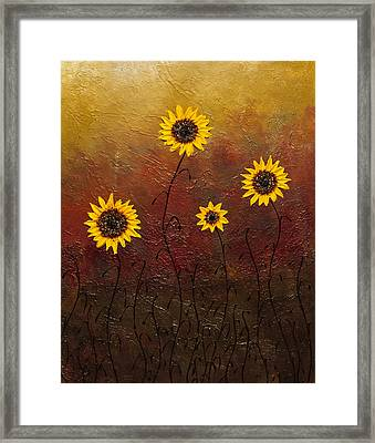Sunflowers 3 Framed Print by Carmen Guedez