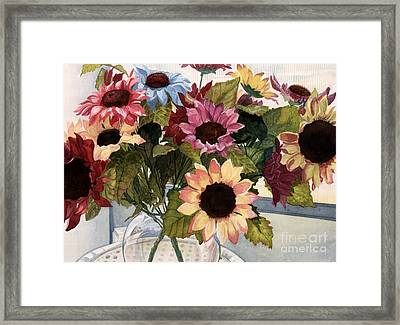 Sunflowers Framed Print by Barbara Jewell