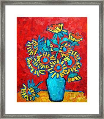 Sunflowers Bouquet Framed Print