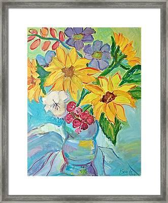 Sunflowers Framed Print by Brenda Ruark