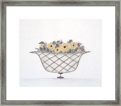 Sunflowers Framed Print by Christine Corretti