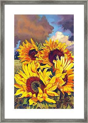 Sunflowers Framed Print by David Randall