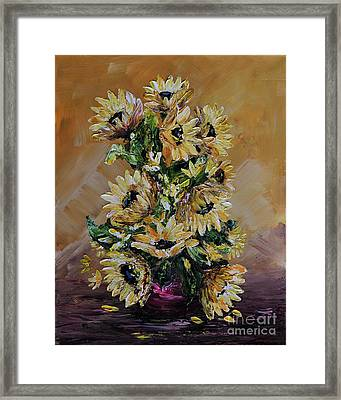 Sunflowers For You Framed Print by Teresa Wegrzyn