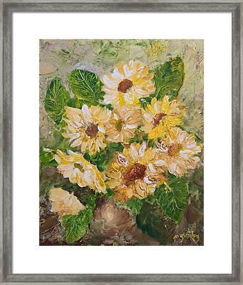 Sunflowers Forever Framed Print