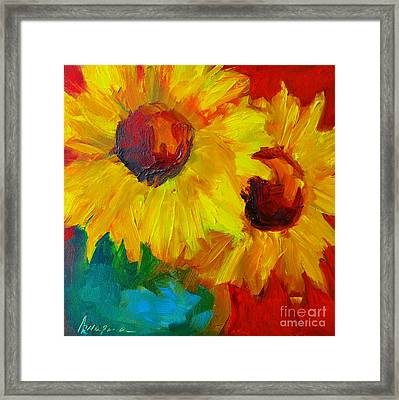 Joyful Floral Framed Print