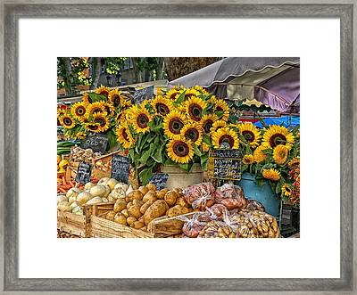 Sunflowers In A French Market Framed Print