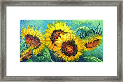 Sunflowers Framed Print by Isabelle Gervais