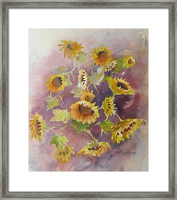 Sunflowers Framed Print by John  Svenson