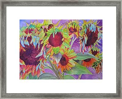 Sunflowers Framed Print by Joshua Morton