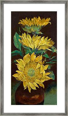 Sunflowers Framed Print by Michael Creese