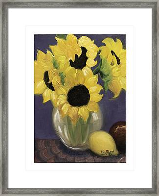 Sunflowers Framed Print by Nancy Edwards
