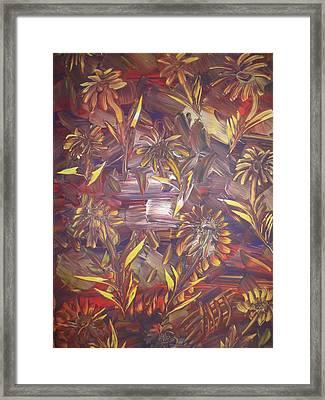 Sunflowers Framed Print by Nico Bielow
