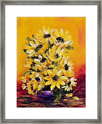 Sunflowers  No.3 Framed Print by Teresa Wegrzyn