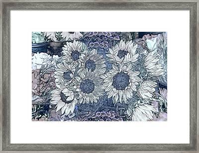 Sunflowers Paris Framed Print