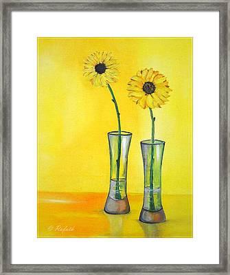 Sunflowers Framed Print by Rafath Khan