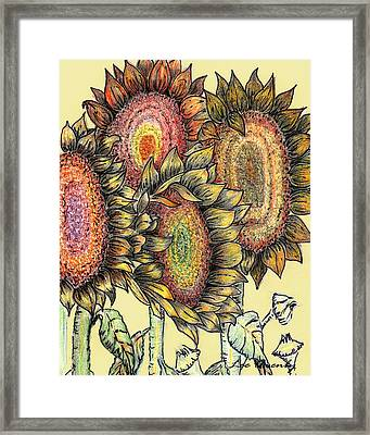 Sunflowers Revisited Framed Print