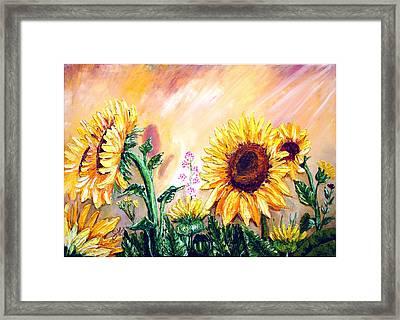 Sunflowers Framed Print by Shirwan Ahmed