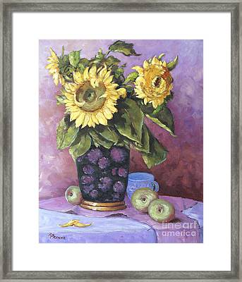 Sunflowers Study By Prankearts Framed Print