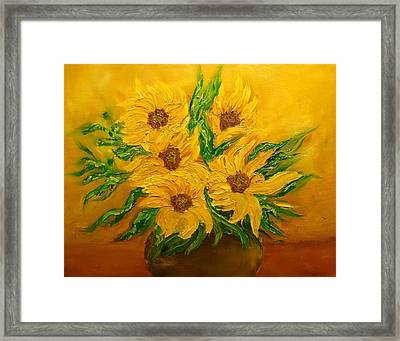 Sunflowers Framed Print by Svetla Dimitrova