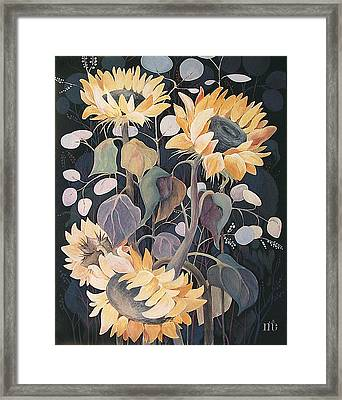 Sunflowers' Symphony Framed Print