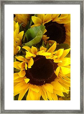 Sunflowers Tall Framed Print
