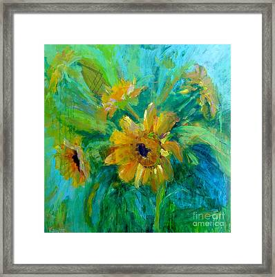 Sunflowers Framed Print by Virginia Dauth