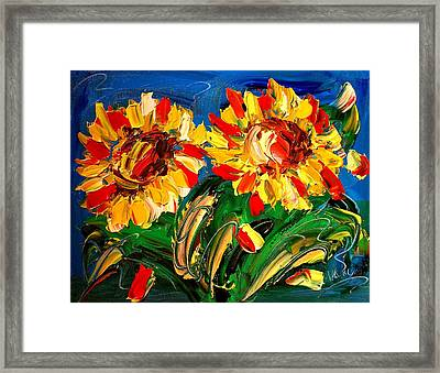 Sunflwers Framed Print by Mark Kazav