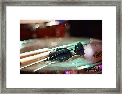 Sunglasses And Sticks Framed Print by Lynda Dawson-Youngclaus