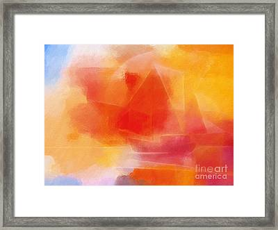 Sunglow Sailing Framed Print by Lutz Baar