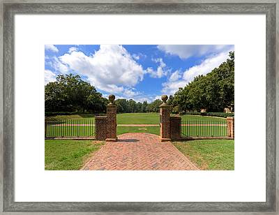 Framed Print featuring the photograph Sunken Garden At William And Mary by Jerry Gammon
