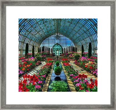 Sunken Garden Marjorie Mc Neely Conservatory Framed Print