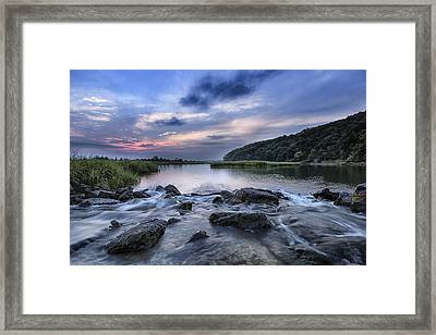 Sunken Meadow Morning Framed Print by Mike Lang