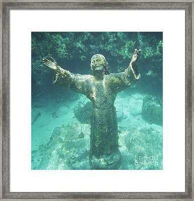 Sunken Savior Framed Print