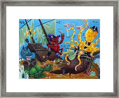 Sunken Ship Framed Print by Thome Designs