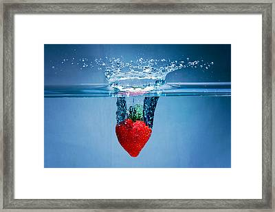 Sunken Strawberry Framed Print