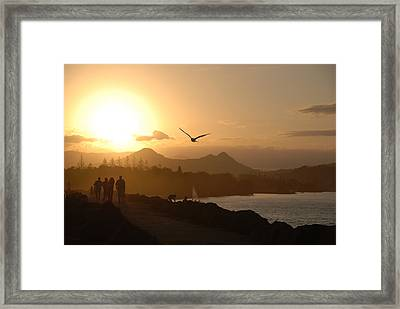 Sunkissed @ Brunswick Heads Framed Print