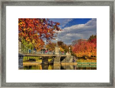 Sunkissed Lagoon Bridge Framed Print by Joann Vitali