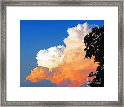 Sunkissed Storm Cloud Framed Print