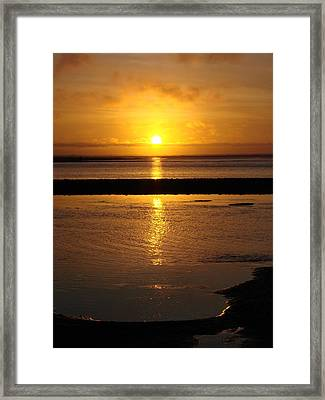 Sunkist Sunset Framed Print by Athena Mckinzie