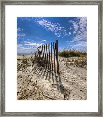 Sunlight And Shadows Framed Print by Debra and Dave Vanderlaan