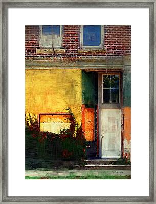 Sunlight Catching Yellow Wall Framed Print by RC deWinter